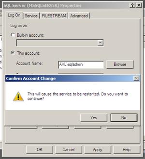 SQL Server VM - Service Account