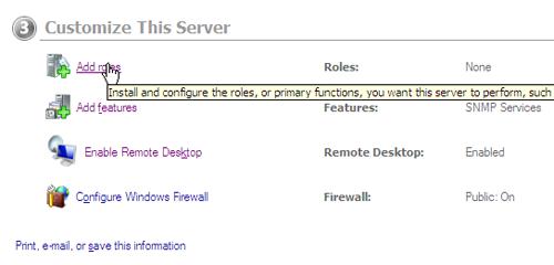 Assigning Server Roles