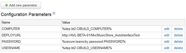 TeamCity - Build Parameters