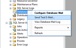 SSMS DatabaseMail - Test Email