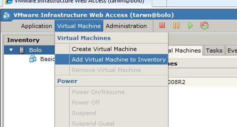 Add Virtual Machine, Step 0