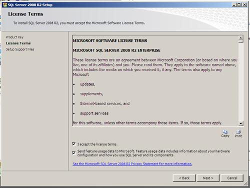 SQL Server 2008 R2 Setup - Support Files (Next, Next, Install)