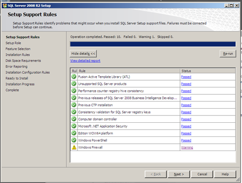 SQL Server 2008 R2 Setup - Firewall Warning