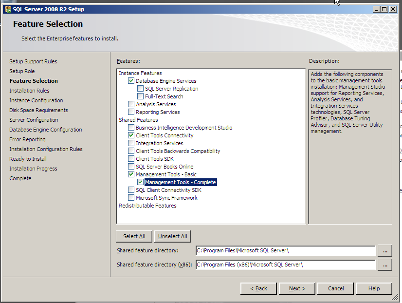 install sql server 2008 integration services component