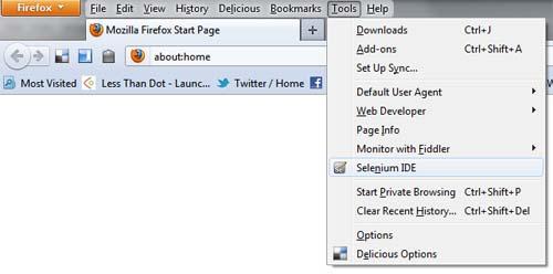 Selenium IDE in Firefox