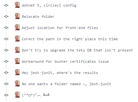 YAML Bashing my CircleCI build - lots of git commits