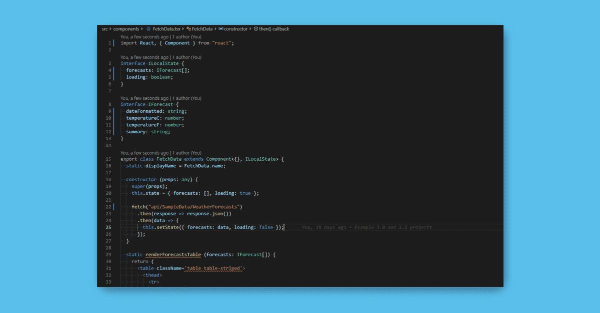 Converting the ASP Net Core 2 2 React SPA to Typescript